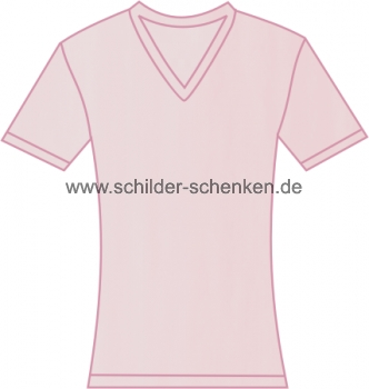 damen shirt mit v ausschnitt pink. Black Bedroom Furniture Sets. Home Design Ideas