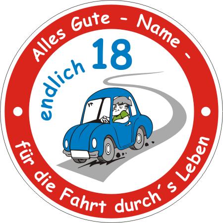 Schild Ronde Fuhrerschein Auto Zum 18 Geburtstag Junge Boy